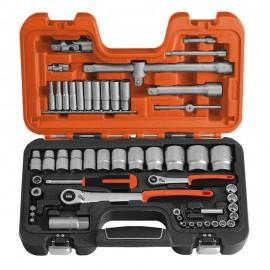 """Zestaw narzędzi 1/4"""" + 1/2""""  56 szt. BAHCO S560"""